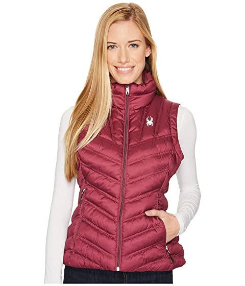 SPYDER Geared Synthetic Down Vest, Amaranth
