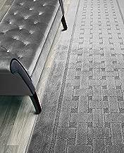 Custom Length Hallway Runner Rug,Slip Resistant,Labyrinth Grey, 26 Inch X 12 feet, Sold and Priced Per Foot