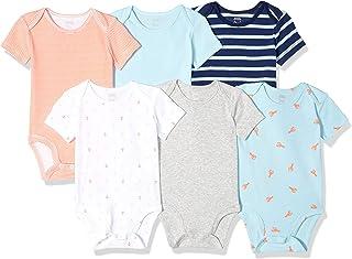 Amazon Essentials Baby Boys Short-Sleeve Bodysuits