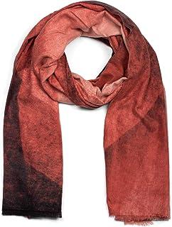 styleBREAKER suave chal de mujer con motivo de gradiente de color geométrico y deshilachados alrededor, invierno, estola, ...