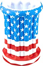 Forum Novelties July 4th Independence Day Stars Stripes American US Flag Patriotic Inflatable Drink Cooler
