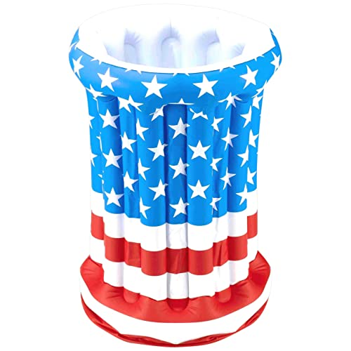 27cb79e8721 Forum Novelties July 4th Independence Day Stars Stripes American US Flag  Patriotic Inflatable Drink Cooler