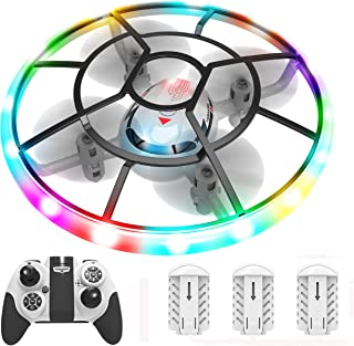 HASAKEE Q7 Mini Drone for Kids Beginners,RC Helicopter Quadcopter with Altitude Hold,Neno Light,3 Batteries and Remote Con...