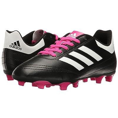 adidas Kids Goletto VI FG Soccer (Little Kid/Big Kid) (Core Black/Footwear White/Shock Pink) Kids Shoes
