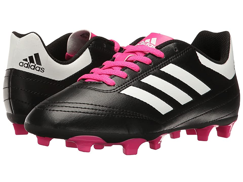 adidas Kids Goletto VI FG Soccer (Little Kid/Big Kid) (Core Black/Footwear White/Shock Pink) Kids Shoes