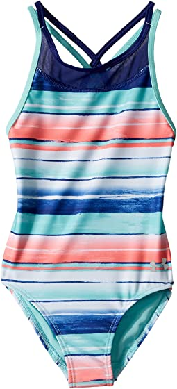 Water Stripe One-Piece (Little Kids)