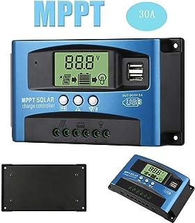 Elikliv 30A MPPT Solar Panel Battery Regulator Charge Controller 12V/24V Charger