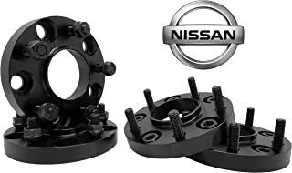 4 PC NISSAN 350Z 370Z INFINITY G35 G37 BLACK 20MM HUB CENTRIC WHEEL SPACERS ADAPTERS 12x1.25 LUG NUTS