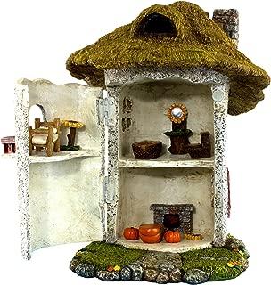 "PRETMANNS Fairy Garden House Kit - Miniature Accessories & Furniture – House is 9.25""High – Door Opens Wide – Fairy Garden Supplies"