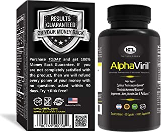 Horny Goat Weed | AlphaViril by Dr Sam Robbins | Naturally Boosts Testosterone, Strength, Stamina, Energy, Performance, Bu...
