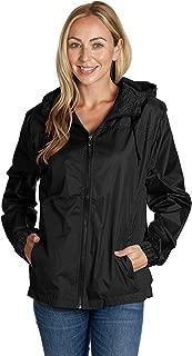 Ladies Hooded Wind Resistant/Water Repellent Windbreaker Jacket