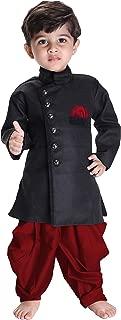 JBN Creation Boys' Black Cotton Blend Sherwani Style Kurta Set(VASBSW120MA)