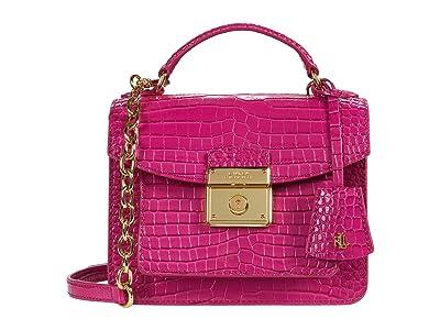 LAUREN Ralph Lauren Beckett 19 Crossbody (Deep Fuchsia) Handbags