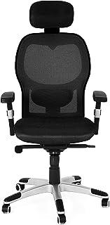 YITAHOME Chaise de bureau ergonomique avec accoudoirs réglables et soutien lombaire rembourré et appui-tête - Chaise de bu...
