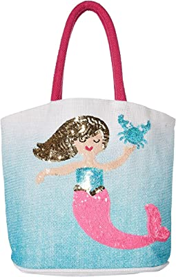 Mud Pie - Mermaid Straw Tote