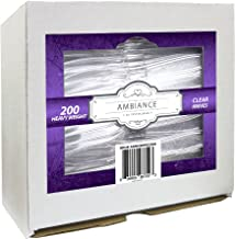 Crystalware Heavy Weight Plastic Knives 200/box, Clear