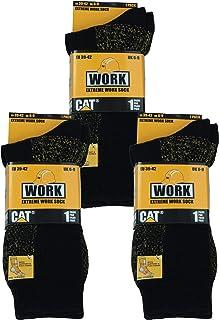 3 pares de calcetines de trabajo para hombre Cat lana de alta calidad, material prelavado muy suave