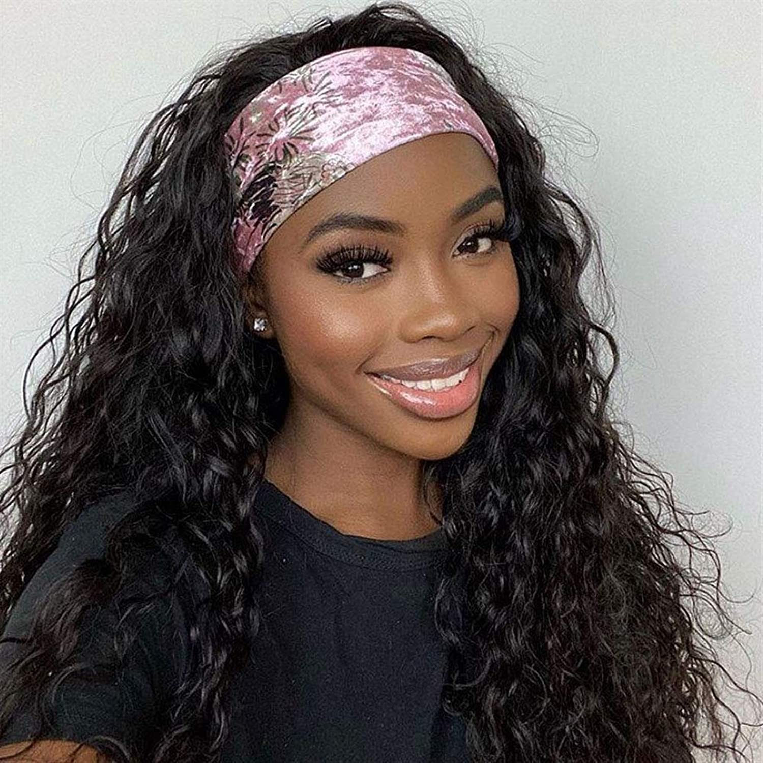 Wig Wigs New product! New type Headband Loose Wave L None service Hair Human Glueless