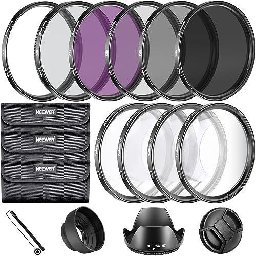 Neewer® 67mm Kit de accesorios de filtro de lente completo para objetivos con 67mm tamaño de filtro: UV, CPL FLD Ju...