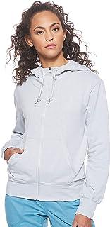 هودي اسينشال بسحاب كامل للنساء من ذا نورث فيس Grey (Tnf Light Grey Heather DYX) (Manufacturer Size:Small)