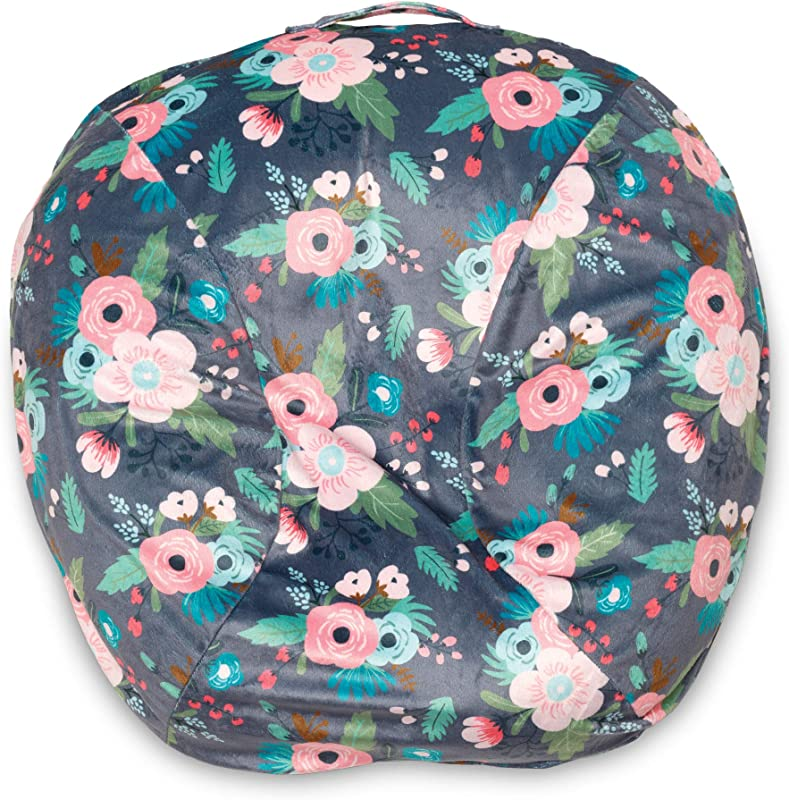 Boppy Boutique Newborn Lounger Cover Gray Floral