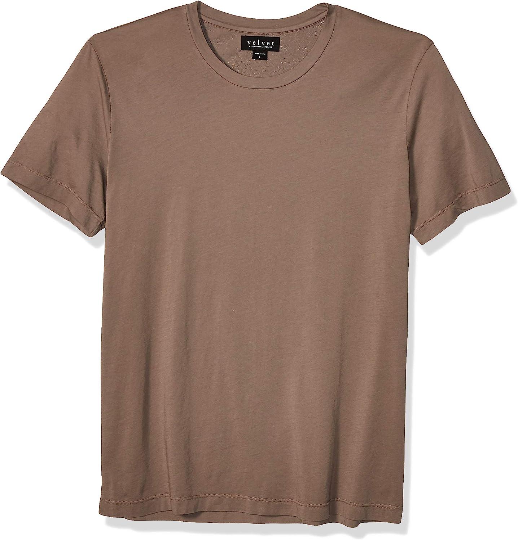 VELVET BY GRAHAM SPENCER Men's ブランド買うならブランドオフ T Short-Sleeve 予約 Crew-Neck Howard