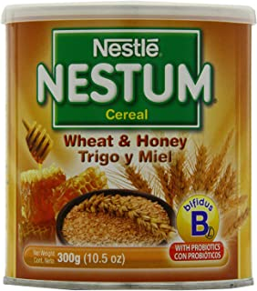 Nestle Nestum Cereal, Wheat and Honey, 10.5-Ounce Container (Pack of 24)