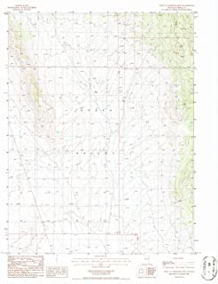 Nevada Maps - 1986 West of Whistler MTN, NV USGS Historical Topographic Map - Cartography Wall Art - 35in x 44in