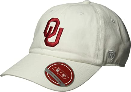 new style 4c025 e8477 Top of the World NCAA Oklahoma Sooners Men s Adjustable Relaxed Fit White  Icon Hat, White