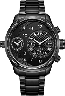 JBW Luxury Men's G3 16 Diamonds Two Time Zone Swiss Movement Watch
