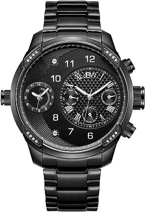 JBW Luxury Men's G3 16 Diamonds Two Time Zone Swiss Movement Watch - J6344D