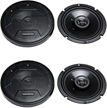 $38 » Hifonics Zeus ZS65CXS 6.5 Inch 3 Way 300W Shallow Coaxial Speakers (2 Pack)
