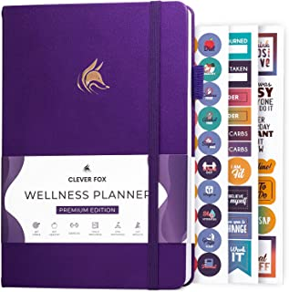 Clever Fox Wellness Journal – Weekly & Daily Health and Wellness Log, Food Journal & Meal Planner Diary for Calorie Counti...
