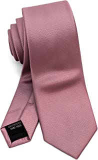 Men's Slim Skinny Tie Necktie Width 2.4 inches Washable Plain Solid Color