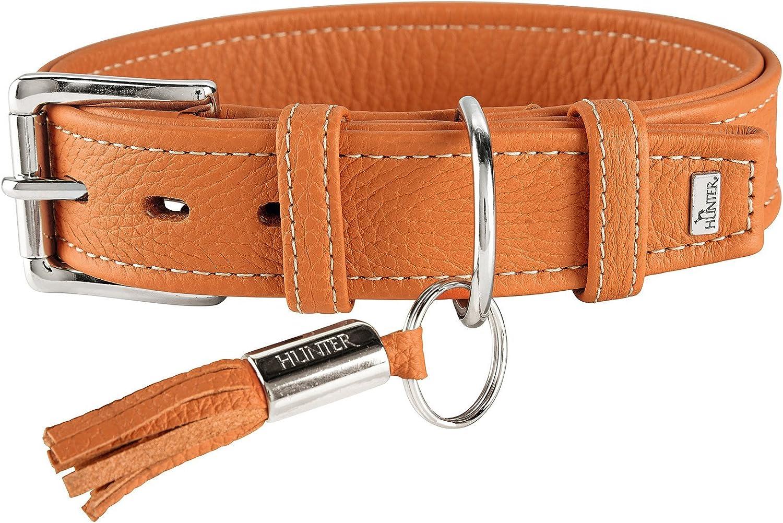 HUNTER Cannes Leather Collar, 65 cm, orange