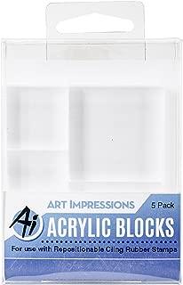 Art Impressions Acrylic Block Variety 5 Pack