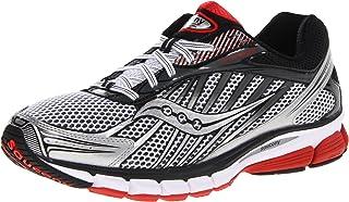 حذاء ركض Saucony للرجال Ride 6، أبيض/أحمر/أسود، 9. 5 M US