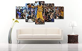 5 Piece Famous People Mafia Drug Dealers Poster Canvas Print Art Decor Wall Like Painting Look (5 Piece Extra Large, Kobe Bryant Celebrating Laker Championship)