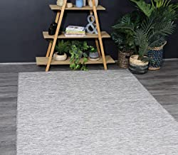 Home Culture Sun Dance Reversible Indoor Outdoor Grey Rug- Durable Rugs for Bedroom, Living Room, High Traffic Areas of Ho...