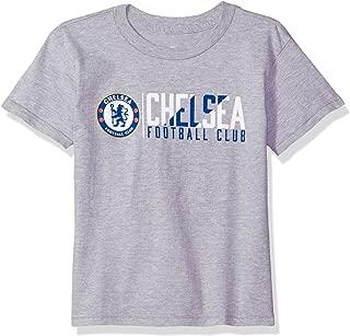 Outerstuff International Soccer Chelsea Kids Across The Field Short Sleeve Tee, M(5-6), Heather Grey