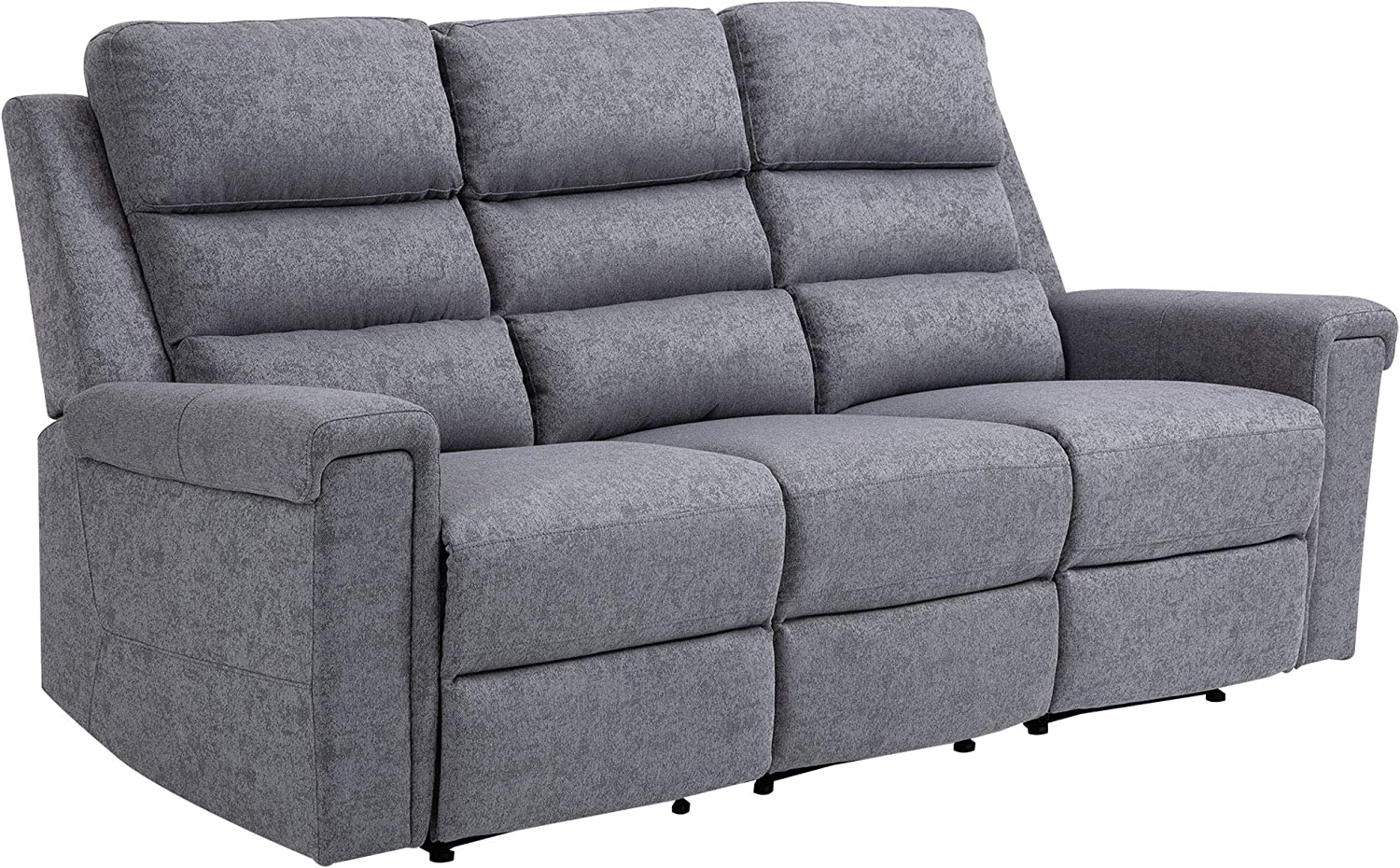 HOMCOM Modern 3 Shipping included Seater Manual Reclining with P Max 54% OFF Easy Lounger Sofa