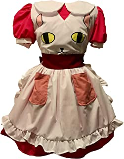 Sky Creation Bee Pink Maid Dress Adult Cosplay Costume Apron Cat Decal