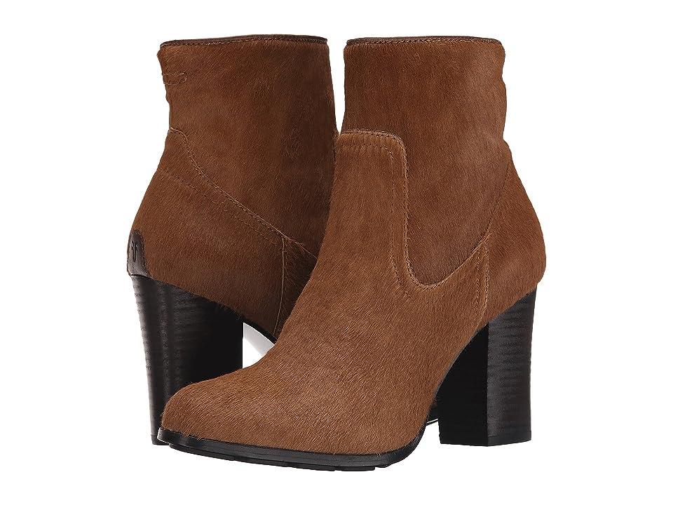 Frye Parker Short (Cognac Hair Calf/Tumbled Full Grain) Cowboy Boots