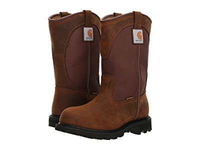 Carhartt 10 Waterproof Wellington Soft Toe (Dark Bison Oil Tanned/Carstrong Durable Fabric) Women