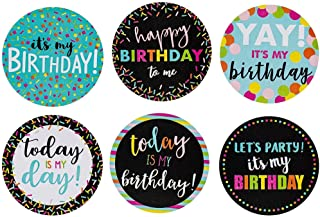 Happy Birthday to Me Stickers - 504-Piece Round It's My Birthday Label Set, Stickers Roll with 6 Assorted Designs for Teac...