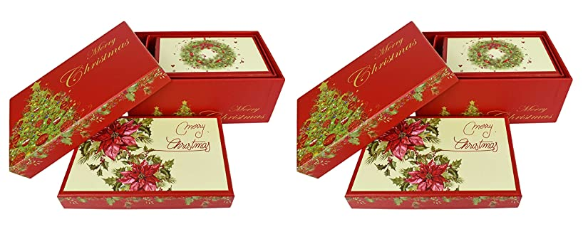 ALEF Set of 6 Elegant Decorative Holiday Themed Nesting Gift Boxes -3 Boxes- Nesting Boxes Beautifully Themed and Decorated!