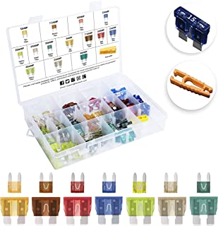 MulWark 140pc Assorted Standard Auto Car Truck Blade Fuses Set- 5A 7.5A 10A 15A 20A 25A 30A-ATC/APR/ATO+ATM Mini-Automotiv...