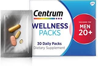 Centrum Wellness Packs Daily Vitamins for Men in Their 20s Men's Vitamins with a Complete...