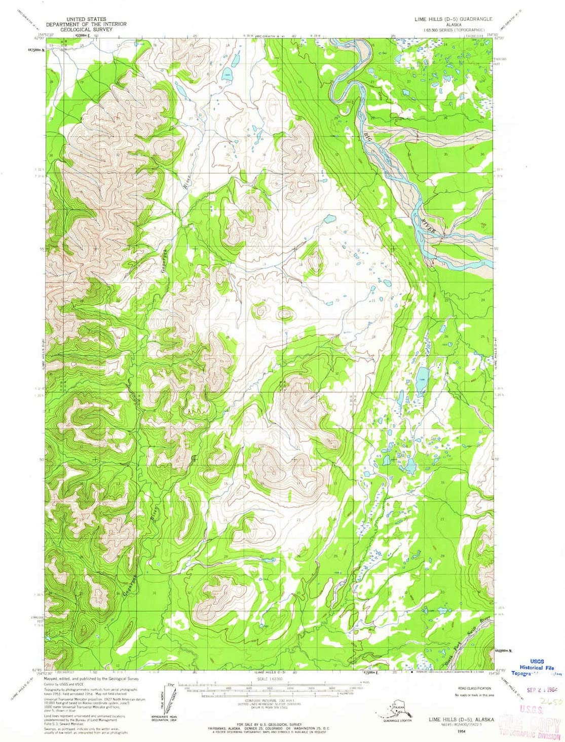 YellowMaps Lime Hills D Max 74% OFF 5 AK topo Mi 15 X map 1:63360 Outlet SALE Scale