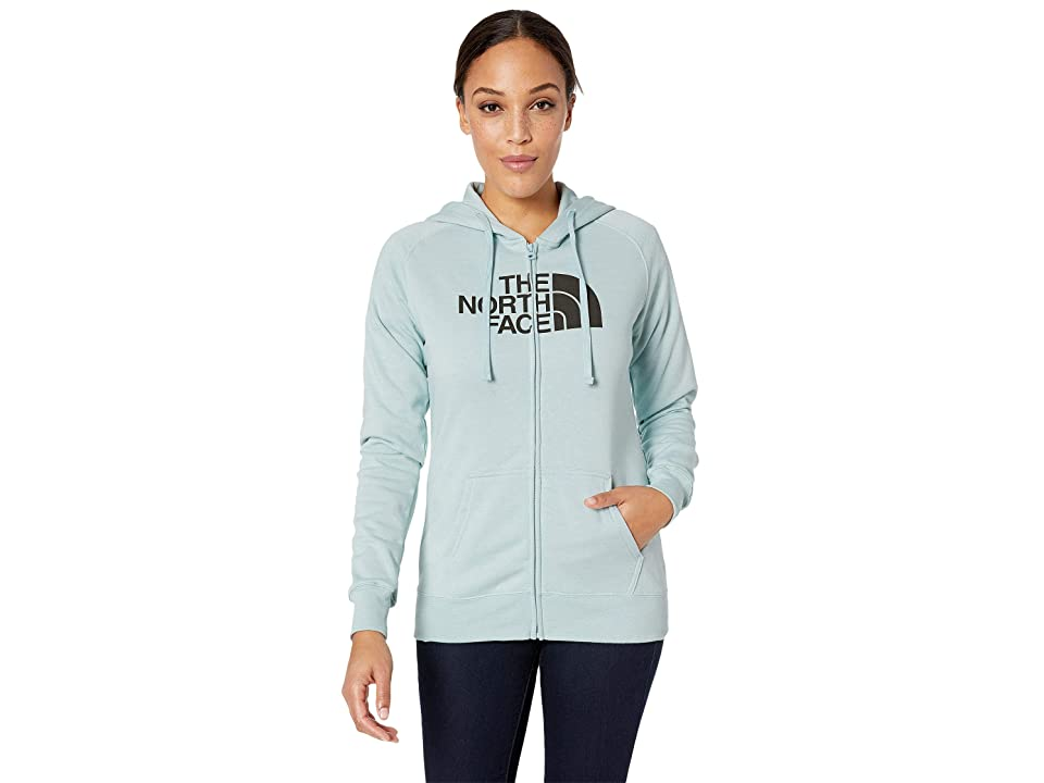 The North Face 1/2 Dome Full Zip Hoodie (Blue Haze Heather/Asphalt Grey) Women
